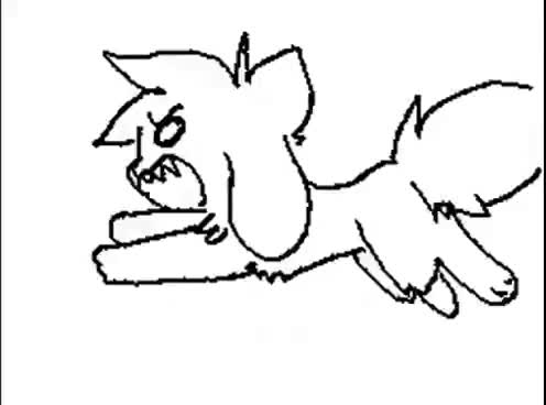 Watch and share RedNoctali's Flipnote [Sudomemo] - Cannibal MV (kittydog) GIFs on Gfycat