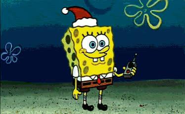 christmas, christmas spirit, happy holidays, holidays, merry christmas, santa, santa claus, spongebob, welcome santa, Welcome Santa - Spongebob GIFs