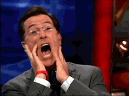 amazed, amazing, holy cow, no way, whoa, woah, wow, Stephen Colbert Amazed GIFs