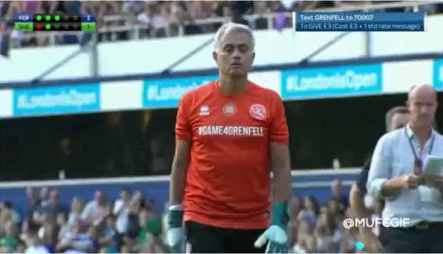 Watch Jose Mourinho scores a penalty - Game4Grenfell charity match!!! GIF on Gfycat. Discover more related GIFs on Gfycat
