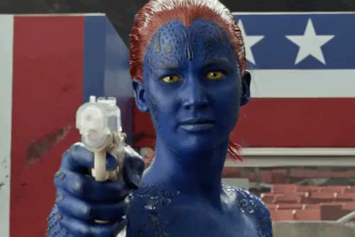 Watch and share Mystique GIFs and Gun GIFs on Gfycat