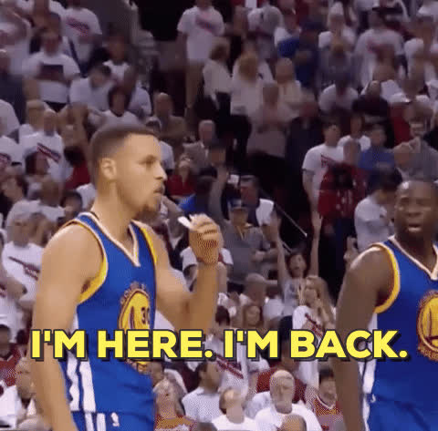 steph curry, stephen curry, playoffs steph imback away TEXT GIFs