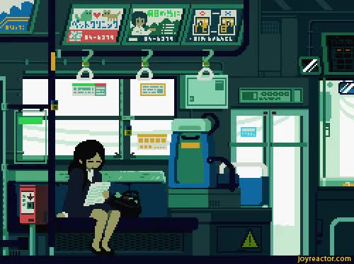 Watch tokyo,metro,subway,pixel art,gif,gif animation, animated pictures GIF on Gfycat. Discover more related GIFs on Gfycat