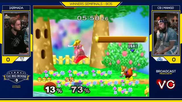 TBH6 SSBM - C9 | Mango (Fox) Vs. [A]rmada (Peach) - Smash Melee Winners Semis