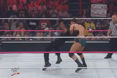 Watch and share Absolutley BEAUTIFUL Cross Rhodes To Seth Rollins : SquaredCircle GIFs on Gfycat