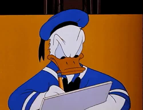 Watch Donald's Double Trouble (1946) GIF on Gfycat. Discover more 1946, Donald's Double Trouble, animation, disney, disney gif, donald duck, donald duck gif, film, gif, hugs and kisses, keeping score, my gif, short film, vintage, xoxo GIFs on Gfycat