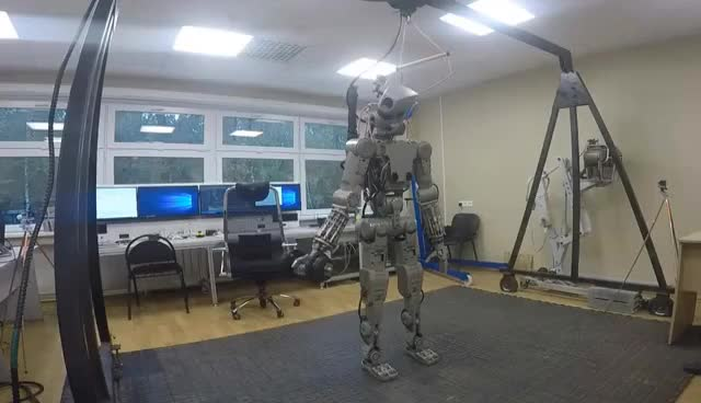 Watch and share Робот Фёдор - Помощник Космонавта GIFs on Gfycat