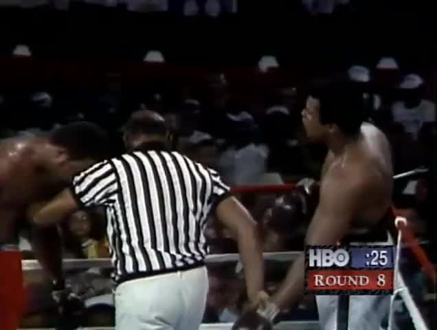 Watch George Foreman vs Muhammad Ali - Oct. 30, 1974  - Entire fight - Rounds 1 - 8 & Interview GIF by @patrick_spens on Gfycat. Discover more foreman, heavyweight, mma GIFs on Gfycat