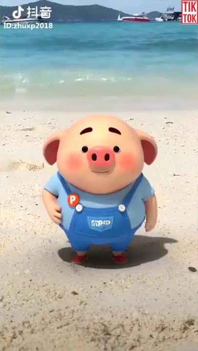 Watch and share TikTok Got Talent   Super Cute Pig GIFs on Gfycat