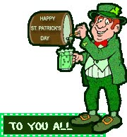 Watch and share Irishman Tapping Keg Of Green Beer animated stickers on Gfycat