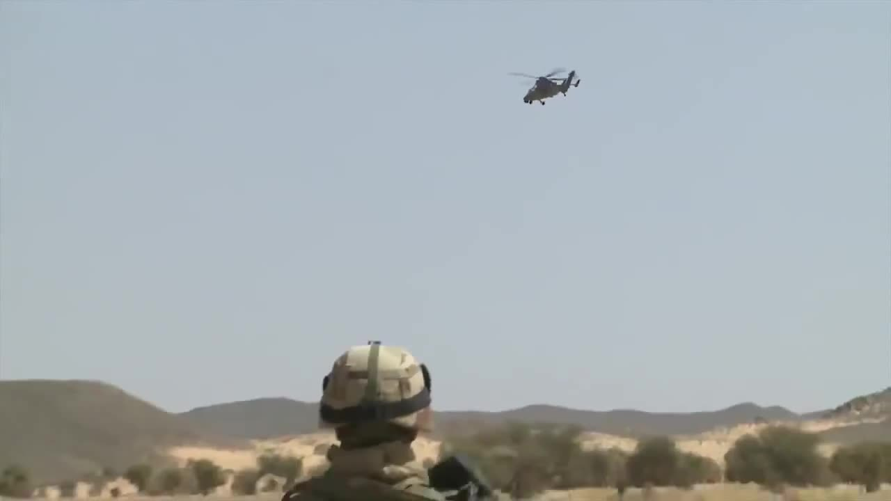 militarygfys, French Tigre helo in action in Mali GIFs