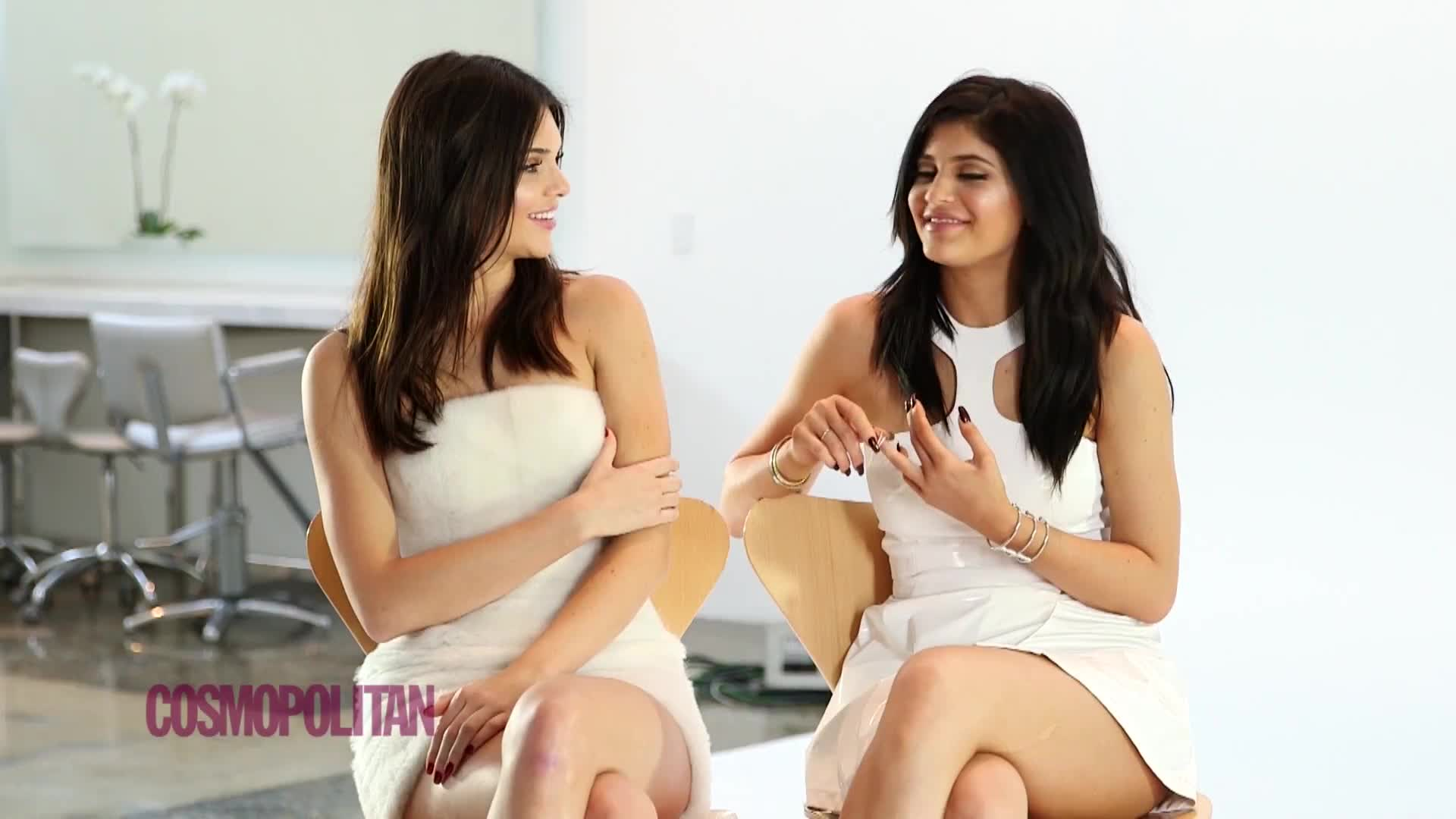 celebrities, celebrity, celebs, jenner, kendall, kendall jenner, kylie, kylie jenner, Kendall Jenner & Kylie Jenner - (10.20.15) Kardashian Konfessions: Their Most Embarrassing Moments Cosmopolitan GIFs