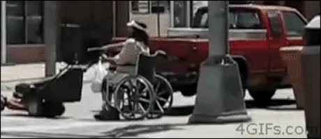 Watch and share Wheelchair GIFs on Gfycat