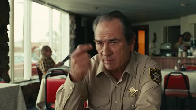 Watch this tommy lee jones GIF on Gfycat. Discover more contest, ed tom, even in the contest between man and steer, film, man, movie, no country for old men, scene, steer, tommy lee jones GIFs on Gfycat