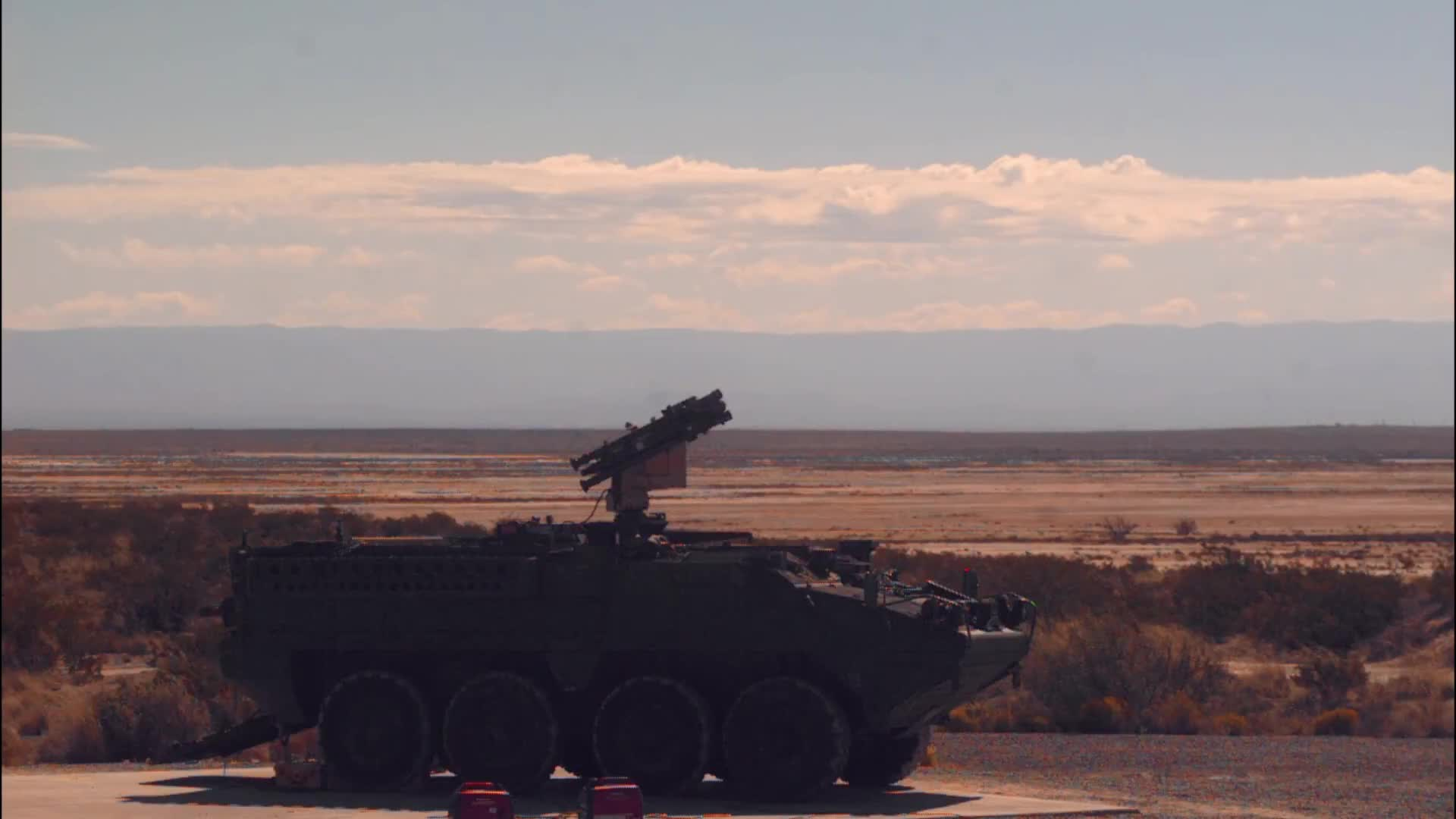 ATEC, Army Test and Evaluation Command, M-SHORAD, Missile Launch, Stinger Missile, Stryker, WSMR, White Sands Missile Range, militarygfys, Stinger on Stryker  GIFs