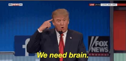 Watch and share We Need Brain Trump GIFs on Gfycat