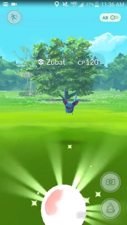 Watch and share Pokemon Go Pokeball Freezes Mid-air Zubat GIFs on Gfycat