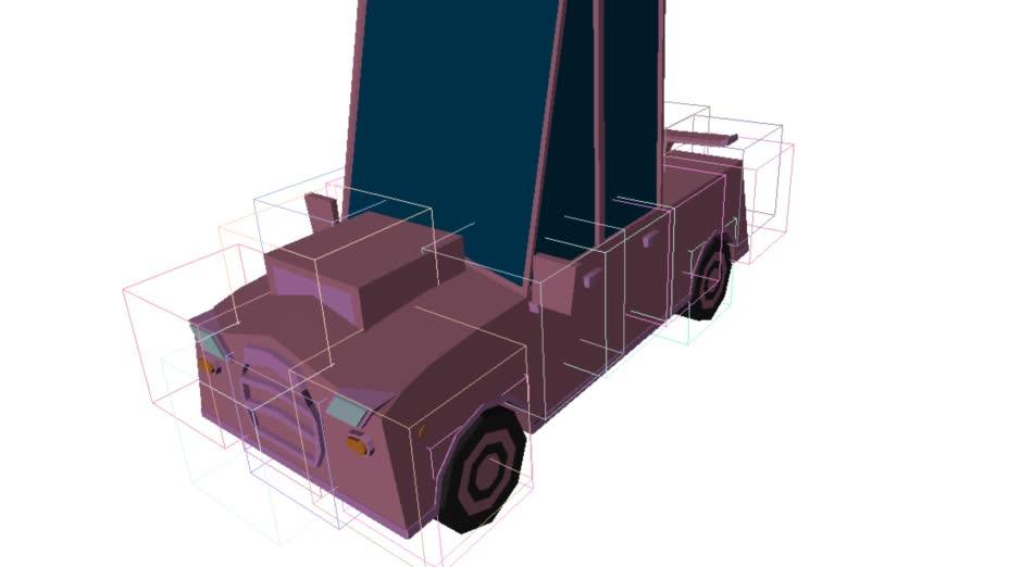 proceduralgeneration, Experimental car generator GIFs