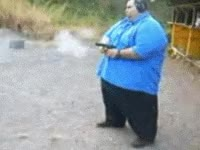 Watch and share Fat, Guns GIFs on Gfycat