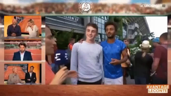 cringepics, Tennis player tries multiple times to kiss his interviewer (reddit) GIFs