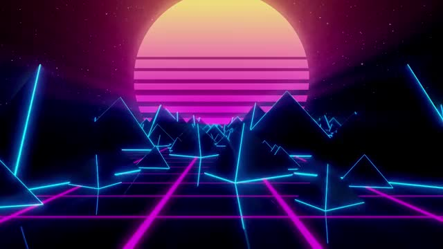 synthwave background GIF | Find, Make & Share Gfycat GIFs