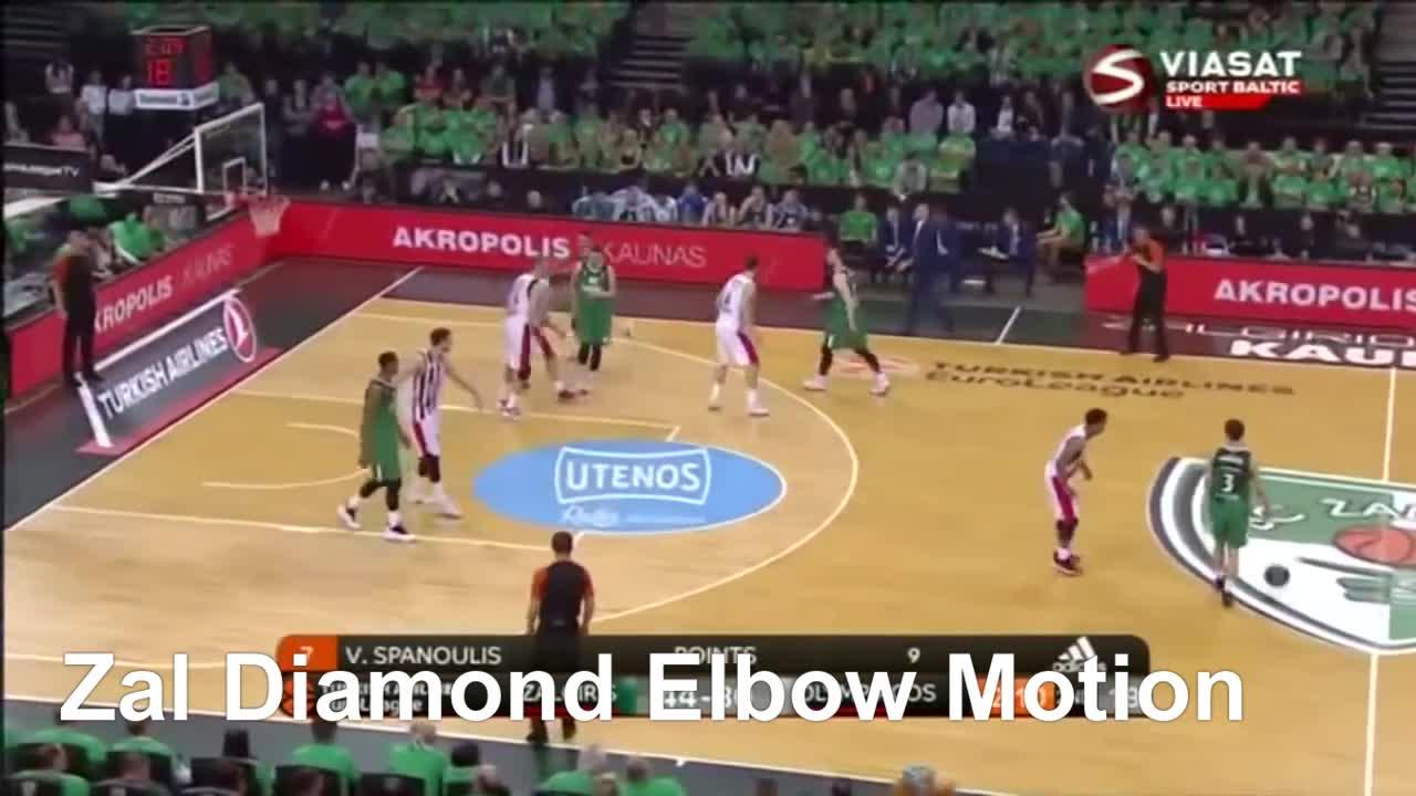 Zalgiris Kaunas Olympiacos Piraeus 24 Apr 2018 Euroleague Playoffs Game 3