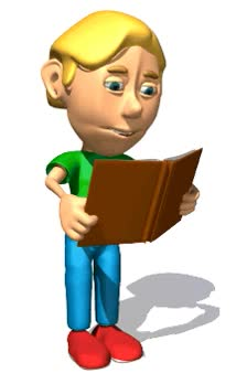 Watch and share Animated School Boy Reading Book GIFs on Gfycat