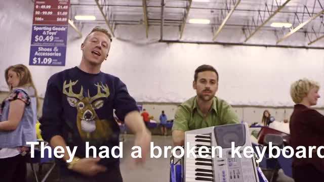 Watch Bought A Broken Keyboard GIF on Gfycat. Discover more Rap, celebs, macklemore, macklemore and ryan lewis, ryan lewis, seattle hip-hop, shop, thrift, thrift shop, wanz, xxl freshman GIFs on Gfycat