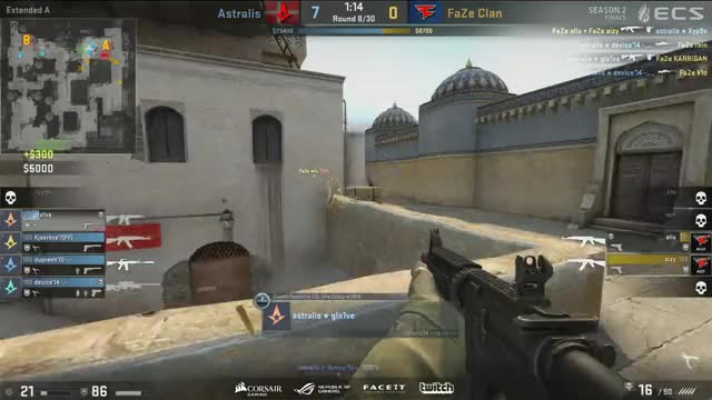 gla1ve (Astralis) Cheating | ECS Season 2 Finals