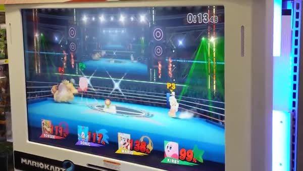 Super Smash Bros for Wii U gameplay Bowser, Sonic, Mario, Kirby (reddit)