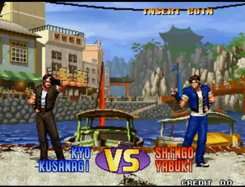 Kyo vs Shingo KOF 98 GIFs