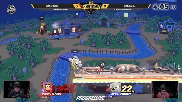 2GGC - TSM | ZeRo (Diddy Kong) Vs. FOX MVG | MKLeo (Metaknight) - Grand Finals (Reset)