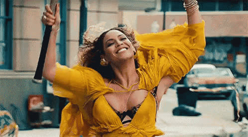 bey, beyonce, calm, celebs, dance, excited, happy, music, queen bey, relieved, smile, song, wind, Happy Beyonce GIFs