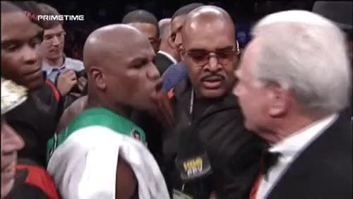 Watch and share Larry Merchant Vs. Floyd Mayweather Jr. (The Gifs) GIFs on Gfycat