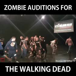 Watch and share Walking Dead Zombie Auditions • R/BetterEveryLoop GIFs on Gfycat