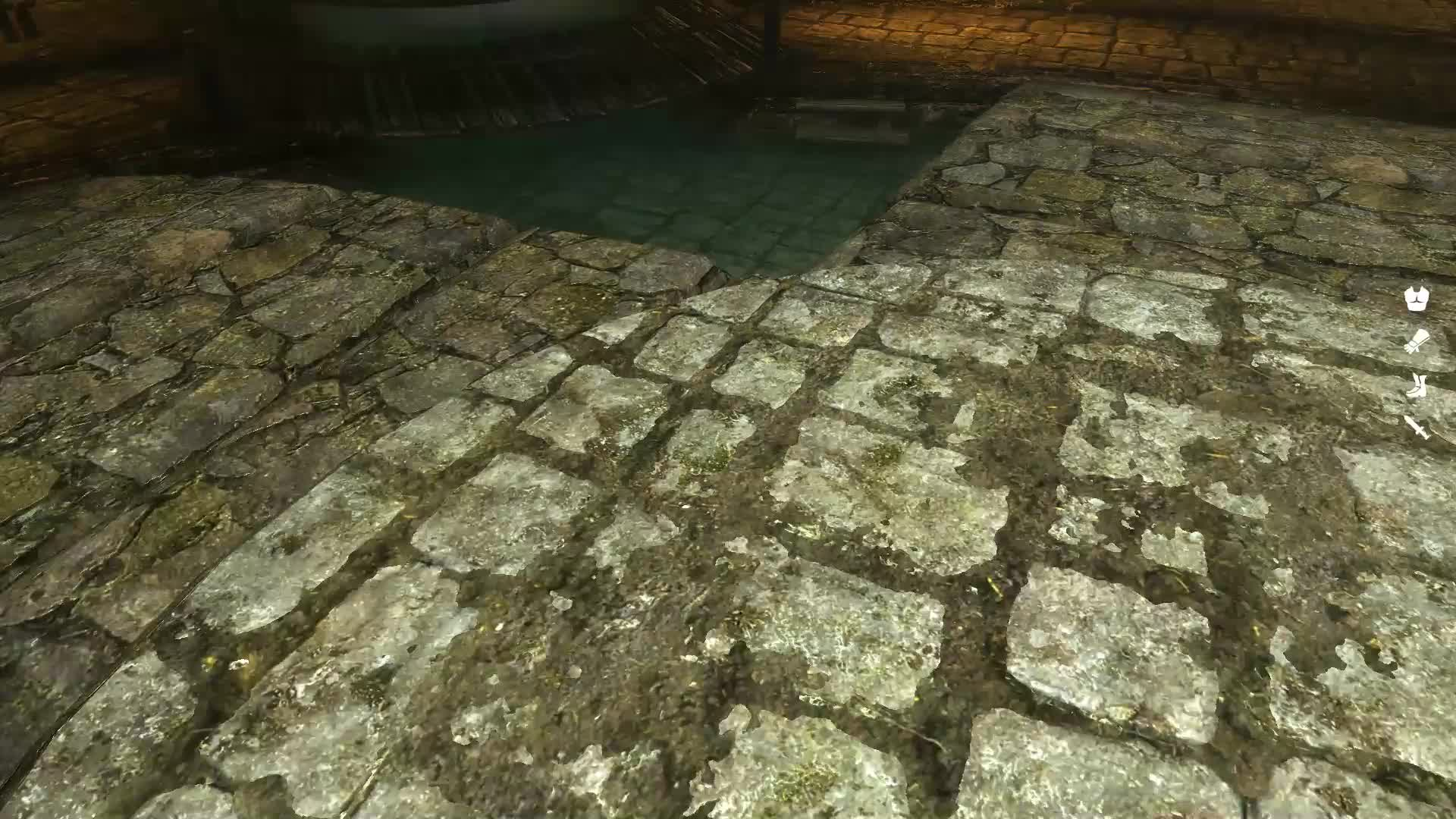 skyrimmods, Weird lighting glitch - Ragged Flagon cistern GIFs