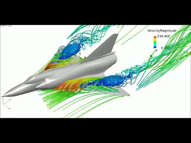 Watch Delta Wing Aerodynamics - Mirage 2000 GIF on Gfycat. Discover more CFD, aeronautics GIFs on Gfycat