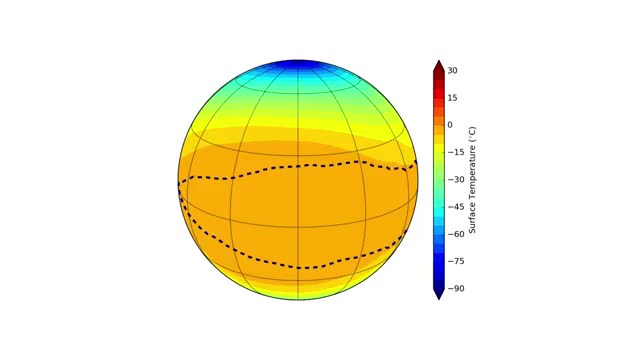 Watch and share Proxima B Surface Temperatures Model GIFs by Science Ukraine on Gfycat