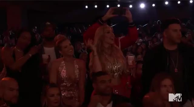 Watch this mtv awards 2017 GIF by GIF Reactions (@visualecho) on Gfycat. Discover more MTV Awards, MTVAwards, MTVAwards2017, Pittbul Fans, crowd, dance GIFs on Gfycat