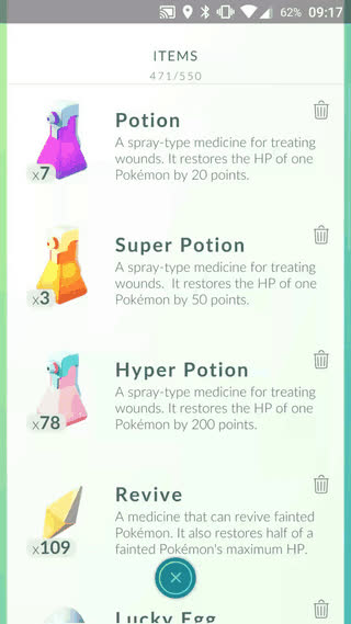Tip: You can heal multiple Pokemons by tapping on them all at once. • r/TheSilphRoad GIFs