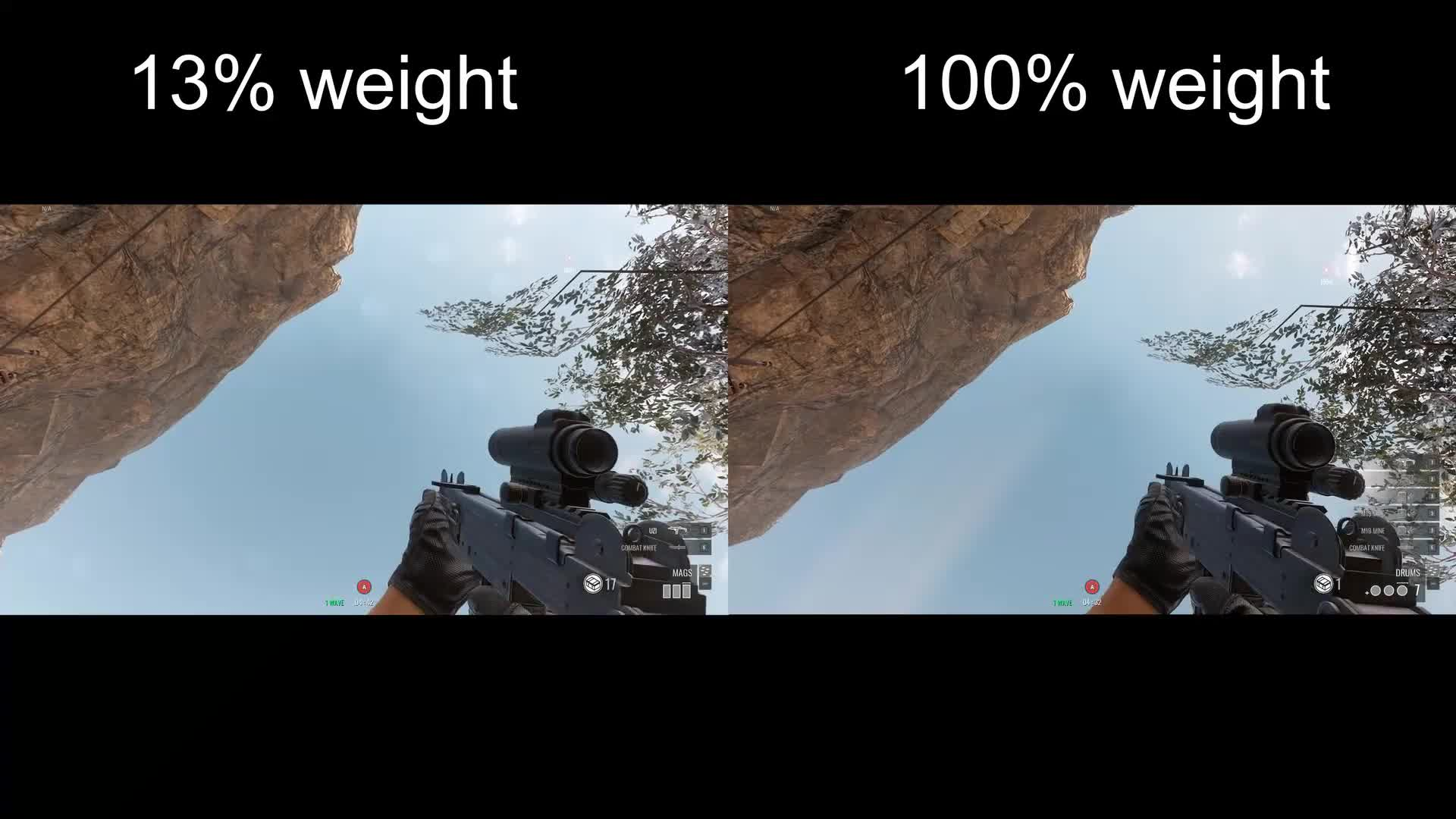 addfuture, gaming, Insurgency Sandstorm: Weight comparison GIFs