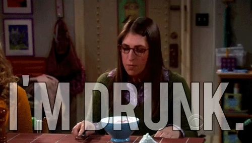 big bang theory, drunk, television, the big bang theory, tv, tv show,  GIFs