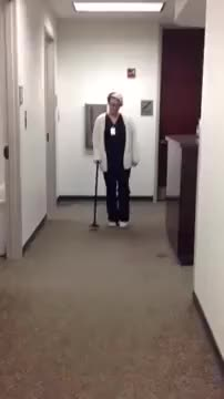How to walk with a cane
