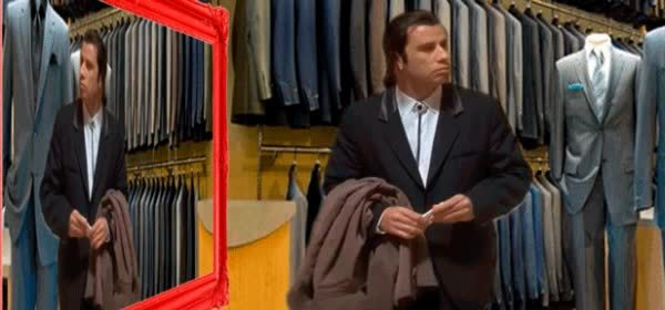 ConfusedTravolta, confusedtravolta, MRW I decided what suit to buy but the salesperson left GIFs