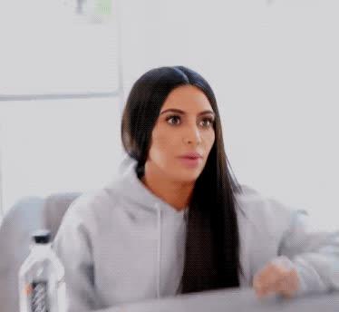gulp, keeping up with the kardashians, kim kardashian, kuwtk, oh no, omg, shocked, shook, surprise, uh oh, Kim Kardashian OMG GIFs