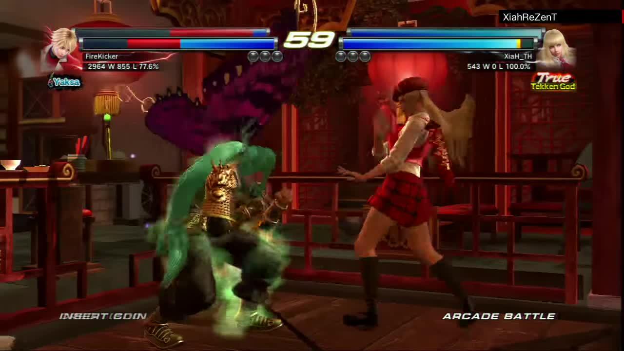arcade, asuka, gaming, lili, tekken, tekken tag tournament 2, ttt2, ultra hard, zia [xiah] tekken, Tekken Tag Tournament 2 - Lili and Asuka Arcade Run [Ultra Hard] [HD] GIFs
