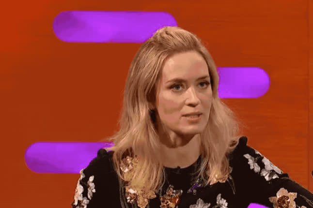 alcohol, blah, blunt, crazy, disgust, disgusting, dizzy, drunk, duh, emily, emily blunt, ew, funny, graham, lol, much, norton, show, stroke, too, Emily Blunt - Funny face GIFs