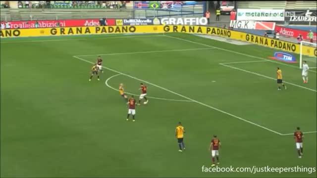 Watch and share Szczesny Save Vs Hellas Verona GIFs on Gfycat
