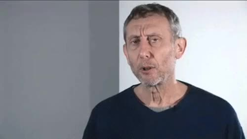 Watch michael rosen not funny gif GIF on Gfycat. Discover more related GIFs on Gfycat