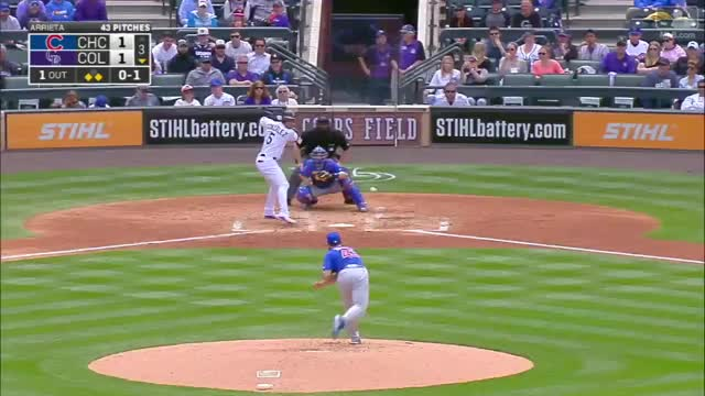 Watch and share Rockies Score Six In The 3rd GIFs by emmabatch on Gfycat
